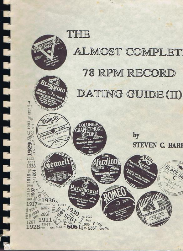 Almost complete 78 rpm record hookup guide